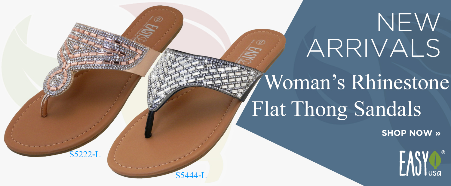 New Arrival Women's Rhinestone Flat Thong Sandals