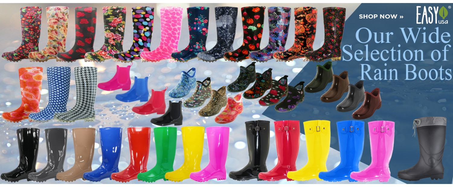 Our Wide Selection of Rain Boots