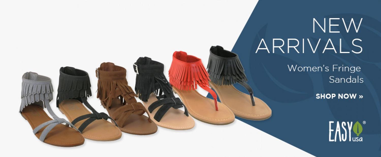 New Arrivals: Fringe Sandals
