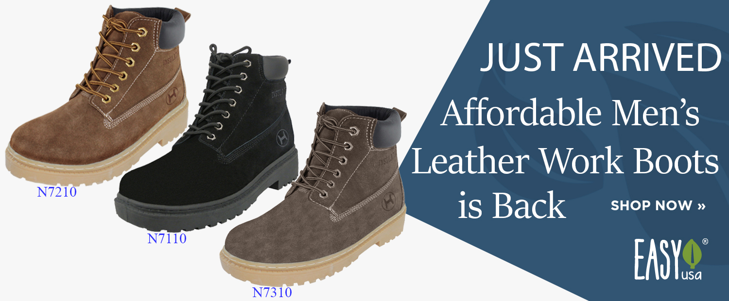 Just Arrived Men's Affordable Men's Leather Work Boots