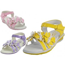 BB2200 - Wholesale Toddlers Silk Flower Top Sandals. ( *Asst. yellow, lilac And Pink )