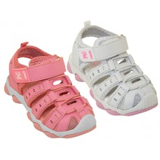 BB2601-A - Wholesale Toddler's Hiker Velcro Sandals ( *Asst. White & Pink )