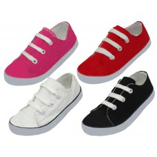 BB327 - Wholesale Children's Lace Up Canvas Shoes ( *Asst. Red Pink Black & White )