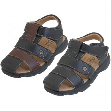 BB4008 - Wholesale Boy's Pu. Leather Upper Velcro Sandals ( *Asst. Black And Brown )
