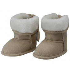 BB4420 - Wholesale Baby's Velcro Strap Fold Over Faux Fur Lining Winter Boots ( *Beige )