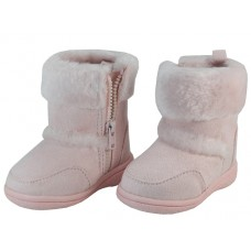 BB4430-Pink Wholesale Child's Winter Boots With Faux Fur Lining And Side Zipper ( *Pink Color )