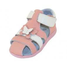 BB7003 - Wholesale Toddlers 3D Leather Upper Sandals ( *Pink/White )