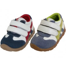 BB7004 - Wholesale Toddlers Leather Double Velcro Sneaker