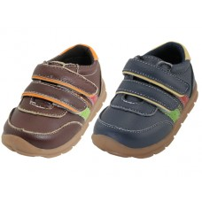 BB7006 - Wholesale Toddlers Leather Double Velcro Sneakers