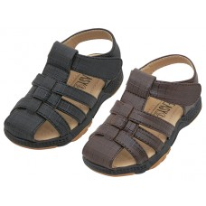 "BB7007 -  Wholesale Boy's ""EasyUSA"" P.U. Leather Upper Velcro Sandals ( *Asst. Black & Brown )"
