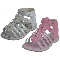 BB8001 - Wholesale Girl's Gladiator Velcro Sandals ( *Asst. Pink And White ) *Last 4 Case