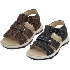 BB8008 - Wholesale Boy's Velcro Strap Sandals ( *Asst. Black And Brown )
