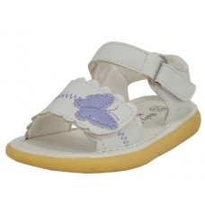 BB9005 - Wholesale Baby's Leather Sandals With Butterfly Patch ( *White Only ) *Last 5 Case