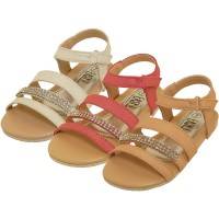 BB9007-A - Wholesale Girl's Rhinestone Sandals