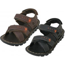 BB9009 - Wholesale Boy's Pu.Leather Upper Sandals ( *Asst. Black And Brown )