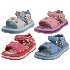BB9202- Wholesale Toddlers Eva Velcro Sandals ( Asst. Red, White, Blue And Pink ) *Last 4 Case