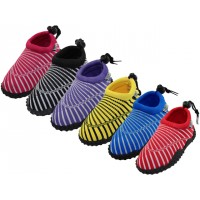 "G1177-I-A - Wholesale Toddlers Sea Shell Print ""Wave"" Water Shoes ( *Asst. 6 Color )"