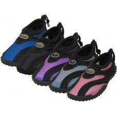"G1185C-A - Wholesale Children's ""Wave"" Comfortable Water Shoes ( *Asst. Black/Purple. Black/Pink. Blach/Royal. Black/Gray And All Black )"