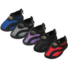 "G1185-I-A  Wholesale Toddler's ""Wave"" Comfortable Water Shoes ( *Asst. Black/Purple. Black/Red. Black/Royal. Black/Gray And All Black )"