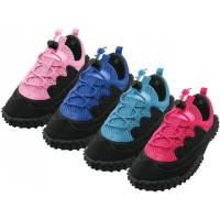 """G1188C-A - Wholesale Children's Lace Up """"Wave"""" Water Shoes ( *Asst. Color )"""