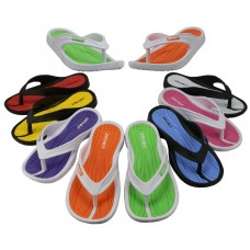 G2260-A - Wholesale Girl's Sport Multi Colors Flip Flops ( *Asst. 8 Color )