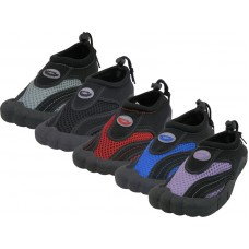 "G2285C-A - Wholesale Youth's ""Wave"" Barefoot Sport Style Water Shoes. ( *Asst. Black/Purple. Royal/Red. Black/Royal. Black/Gray And All Black )"