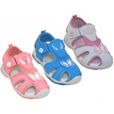 G2801-A - Wholesale Girl's Velcro Sport Hiker Sandals