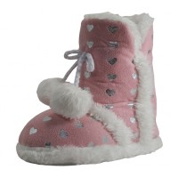 G5550 - Wholesale Girls Pom Pom Bedroom Boots ( *Pink Only )