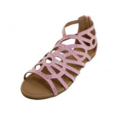 "G7602C-P Wholesale Youth's ""EasyUSA"" Rhinestone Top Gladiator Sandals ( *Pink Color )"