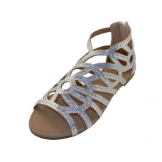 "G7602C-S Wholesale Youth's ""EasyUSA"" Rhinestone Top Gladiator Sandals ( *Silver Color )"