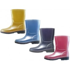 "RB-60 Wholesale Children's ""EasyUSA"" Water Proof Soft Plain Rubber Rain Boots ( *Asst. Mt. Purple. Mt. Pink, Mt. Blue & Mt. Yellow )"