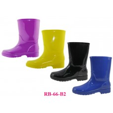 RB-66-B2 - Wholesale EasyUSA Youth's Plain Rubber Rain Boots ( *Asst. Black Blue Purple And Yellow )