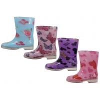 RB-77 - Wholesale Children's Printed Rain Boots