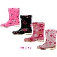 RB-77-C3 Wholesale EasyUSA Children's Print Rubber Rain Boots ( Asst. 4 Printed )