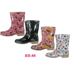 RB-88 - Wholesale EasyUSA Youth's Printed Rubber Rain Boots ( *Asst. 4 Printed ) *Last 4 Case