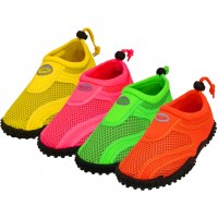 "S1155C-A - Wholesale Youth ""Wave"" Water Shoes ( *Asst. Neon Fuchsia. Orange. Green & Yellow ))"
