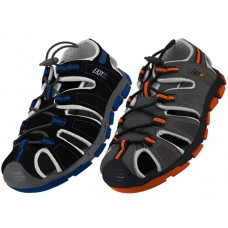 "S2600-B - Wholesale Boy's ""EasyUSA"" Hiker Sport Sandals ( *Asst. Black And Gray )"