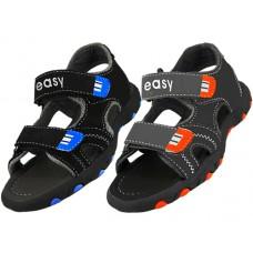 S2700-Y - Wholesale Boy's Velcro Sport Sandals ( *Asst. Black And Gray )