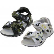 "S2702-B - Wholesale Boy's ""EasyUSA"" Letters Printed Sport Sandals ( *Asst. Black And White )"