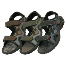 S2900-Y - Wholesale Boys' Velcro Strap Sandals ( *Asst. Black Olive & Brown )