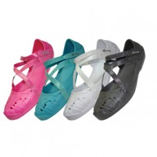 S2920-G - Wholesale Girl's Light Weight Ballerina Shoes ( *Asst. Black, White, Fuchsia & Turquoise ) )