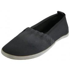 S305G-BK - Wholesale Girls' Elastic Canvas Shoes ( *Black Only )