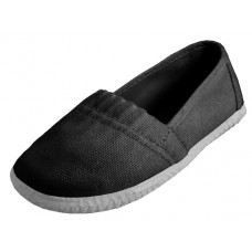 S305-I-BK - Wholesale Toddler's Elastic Upper Slip On Canvas Shoes ( *Black Color )