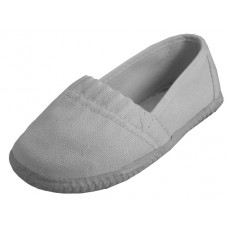 S305-I-W - Wholesale Toddler's Elastic Upper Slip On Canvas Shoes ( *White Color )