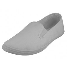 "S316G-W Wholesale Children's ""EasyUSA"" Slip on Twin Gore Upper Casual Canvas Shoes ( *White Color )"