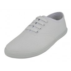 "S324G-W Wholesale Youth's ""EasyUSA"" Casual Canvas Lace Up Shoes ( *White Color )"