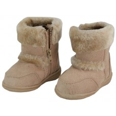 S4430-I-Beige Wholesale Children's Winter Boots With Faux Fur Lining And Side Zipper ( *Beige Color )