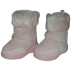 S4430-I-Pink Wholesale Children's Winter Boots With Faux Fur Lining And Side Zipper ( *Pink Color )