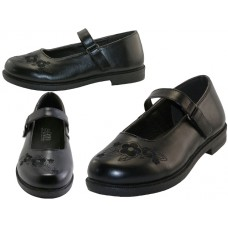 S5003-G - Wholesale Big Girl's Mary Janes Black School shoe ( *Black Color )