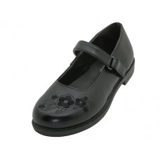 "S5003-G - Wholesale Big Girl's ""EasyUSA"" Mary Jane Black School Shoes ( *Black Color )"
